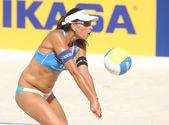 Ana de jugador de voley playa brasileña paula connelly — Foto de Stock