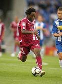 Daniel ngom kome, ein kamerunischer nationalspieler in teneriffa — Stockfoto