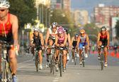Competitors on Barcelona Triathlon 2009 — Stock Photo