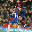 Luis Garcia (L) of Espanyol and Maxwell(R) of Barcelona — Stock Photo