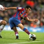 Постер, плакат: FC Barcelona striker Pedro