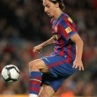 Постер, плакат: Swedish FC Barcelona striker Zlatan Ibrahimovic