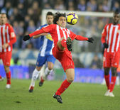 Spanish player Jose Ortiz of Almeria — Stock Photo