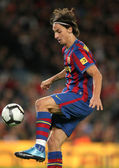 Swedish FC Barcelona striker Zlatan Ibrahimovic — Stock Photo