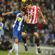 Baena(L) of Espanyol fight with Llorente(R) — Stock Photo #16922151