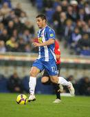 The Argentinian player Osvaldo of Espanyol — Foto de Stock