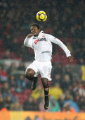 The Ivorian player Christian Koffi Ndri Romaric of Sevilla — Stock Photo