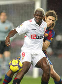 The Ivorian player Arouna Kone of Sevilla — Stock Photo