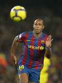 FC Barcelona player Henry — Stock Photo