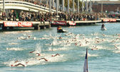 Open water swimming comtetition — Stock Photo
