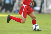 Soccer action — Stock Photo