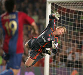 Goalkeeper Oliver Kahn — Stock Photo