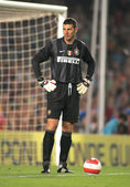 Inter de Milano goalkeeper Francesco Toldo — Stock Photo