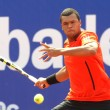 French Jo-Wilfried Tsonga in action - Stock Photo