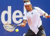 Spanish David Ferrer in action — Stock Photo