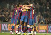 Players group of FC Barcelona — Stockfoto