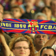 FC Barcelona supporters enjoying — Stock Photo