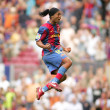 Постер, плакат: Brazilian player Ronaldinho in action