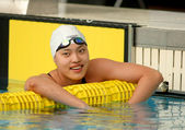 Chinese olympic compeditor swimmer Yi Tang — Stockfoto