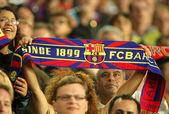 FC Barcelona supporters enjoying — Stock Photo