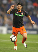 Ever Banega of Valencia CF in action — Stock Photo
