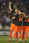 Joaquin Sanchez of Valencia CF celebrates goal — Stock Photo