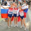 Stock Photo: Kirdyapkina, Kaniskinand Sokolovof Russiwinners on Women 20km Walk
