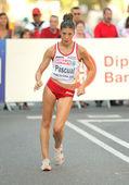 女性 20 キロ徒歩の決勝の時にスペインのベアトリス パスクアル — ストック写真