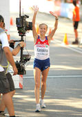 Olga Kaniskina of Russia wins Women 20km Walk Final — Foto Stock