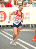 Vera Sokolova of Russia during Women 20km Walk — Stockfoto