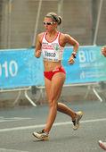 Maria vasco von spanien während frauen 20km gehen — Stockfoto