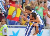 Osvaldo and Verdu of Espanyol — Stockfoto