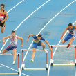 Competitors of 400m Hurdles Men — Stock Photo