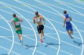 Competitors of 200m Men — Stock Photo