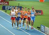 Competitors of 800m Men — Stock Photo