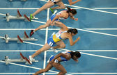 Competitors of 100m Women — Stock Photo
