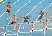 Competitors of 400m Hurdles Men — Stock Photo
