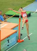 Ruth beitia van spanje concurreert op definitieve hoogspringen — Stockfoto