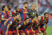 Futbol Club Barcelona Team — Stock Photo