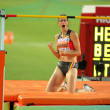 Tia Hellebaut of Belgium during High Jump Final — Stock Photo