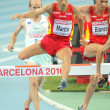 Eliseo Martin of Spain competes on 3000m steeplechase — Stock Photo