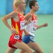 Stock Photo: Jose Luis Blanco(L) of Spain and Ildar Minshin(R) of Russia