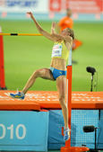 Emma green van zweden tijdens hoogspringen — Stockfoto