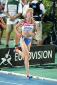 Yelizaveta Grechishnikova of Russia during 5000m women — Stock Photo