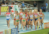 Competitors of 5000m Women — Stock Photo