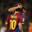 Постер, плакат: Back of Leo Messi of Barcelona