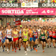 Runners on start of Cursa de la Merce - Stock Photo