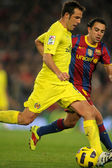 Marchena of Villarreal CF in action — Stock Photo