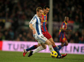 David Zurutuza of Real Sociedad in action — Stock Photo
