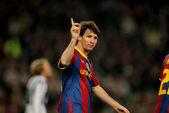 Leo messi barcelona świętuje bramkę — Zdjęcie stockowe